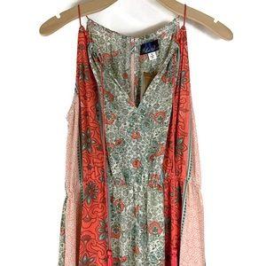 NEW Blue Rare Francesca's Boho Maxi Dress
